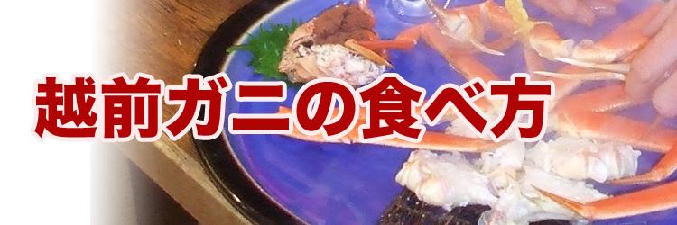 越前ガニの食べ方