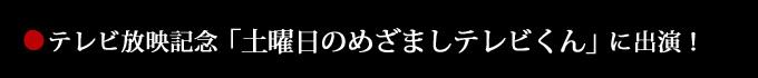 テレビ放送記念「土曜日のめざましテレビくん」に出演!